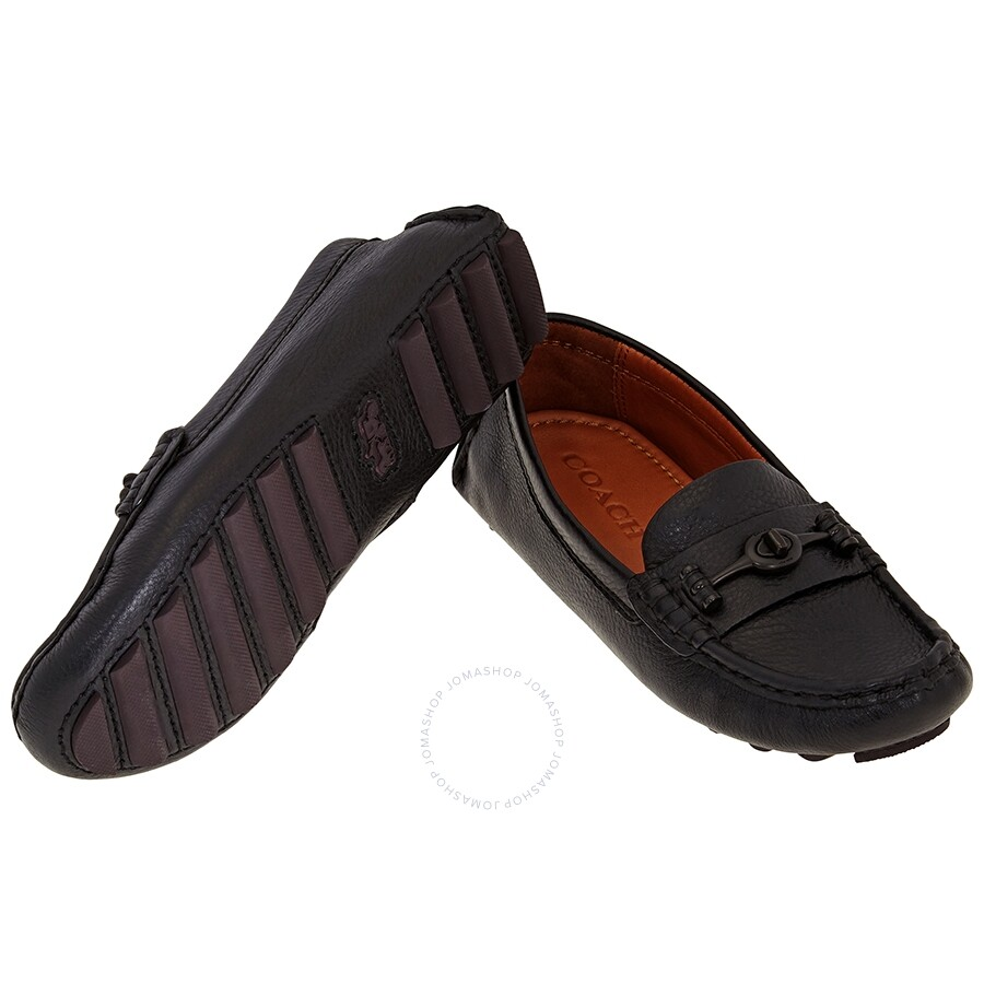 united kingdom innovative design new authentic Ladies Coach Drivers Black Crosby Closed Toe Loafers