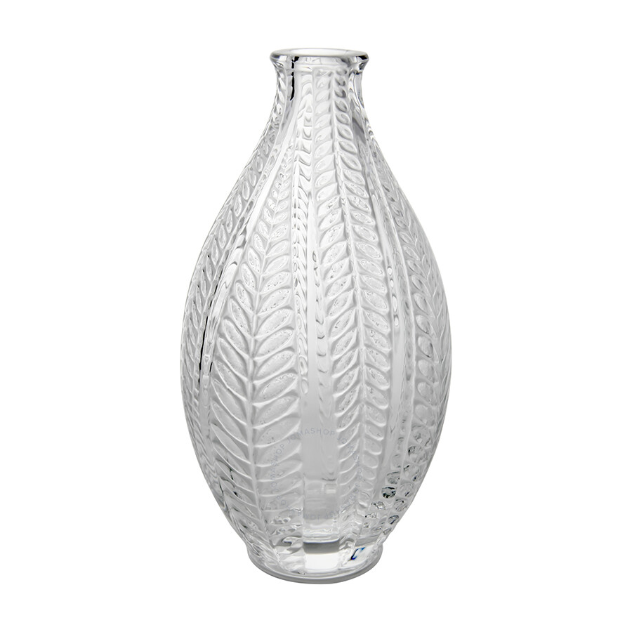 Lalique acacia clear crystal vase 10107300 lalique for Lalique vase