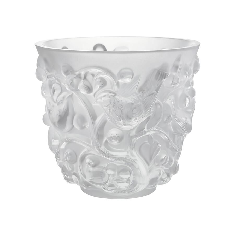 Lalique clear crystal avallon vase 10065300 lalique for Lalique vase