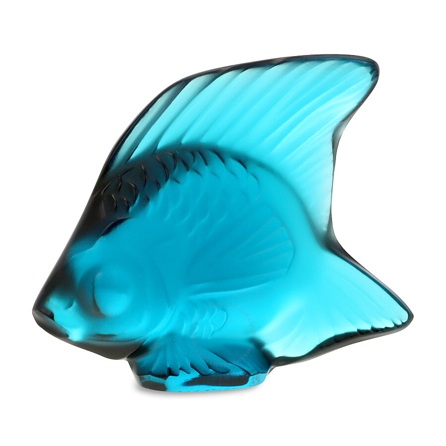 Lalique Crystal Fish Turquoise 30005