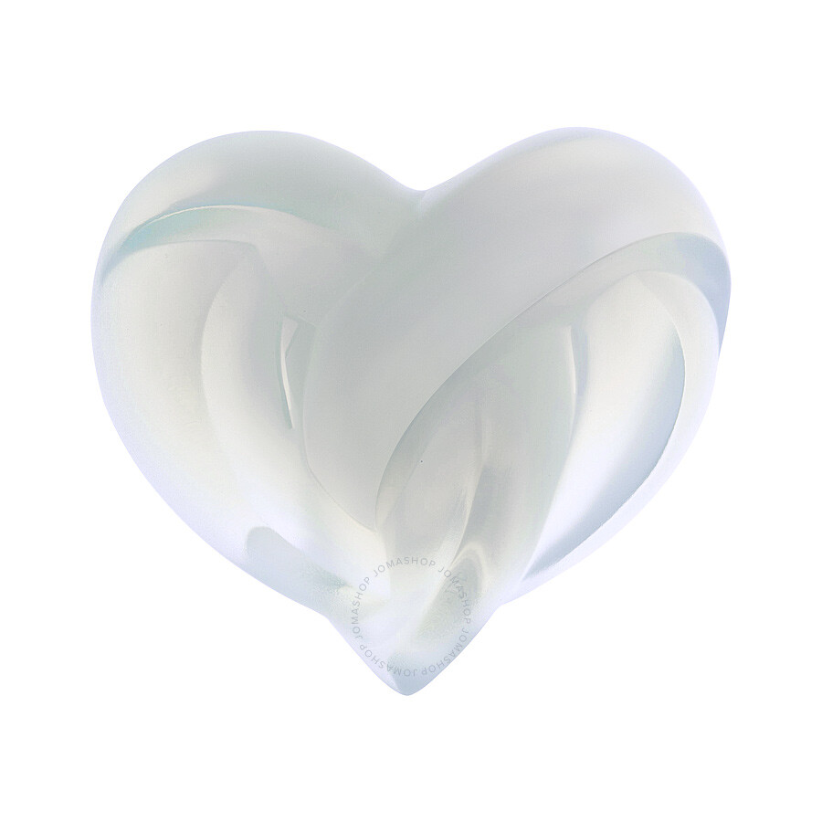 Lalique Crystal Hearts Sculpture