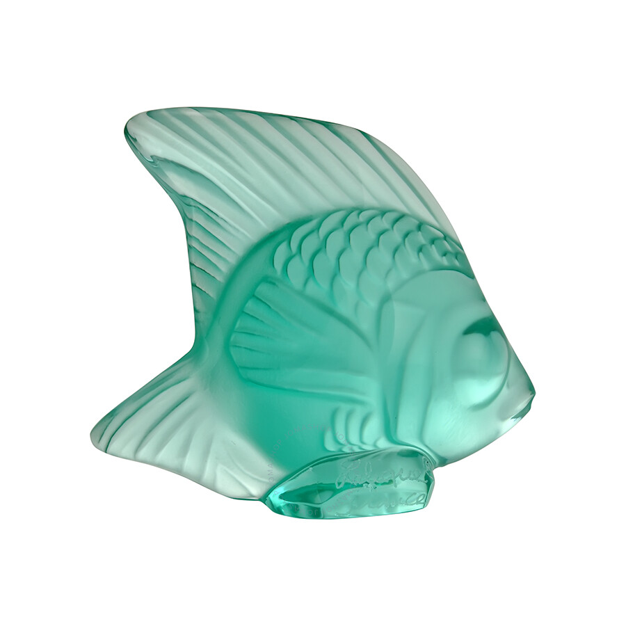 Lalique Crystal Mint Green Fish Figurine 3001900