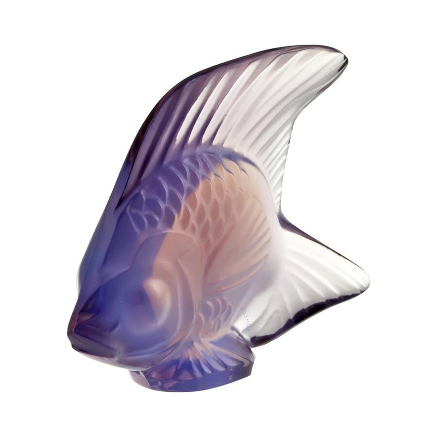 Lalique Lilac Crystal Fish Figurine 30018