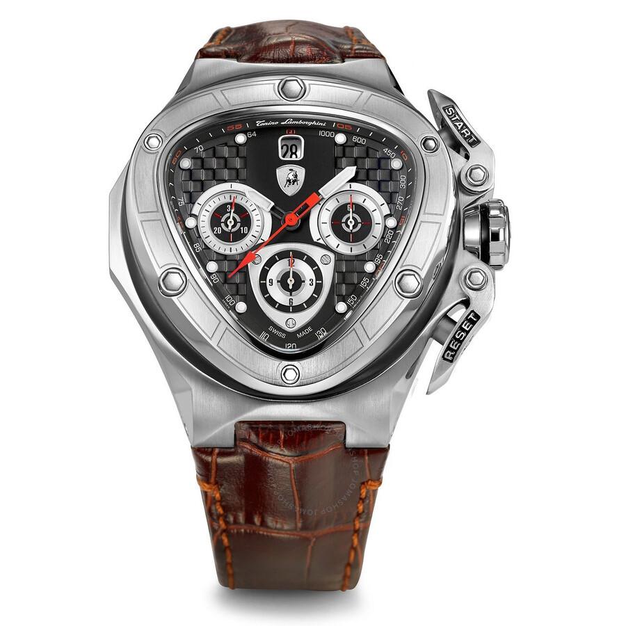 lamborghini spyder 8950 chronograph black brown