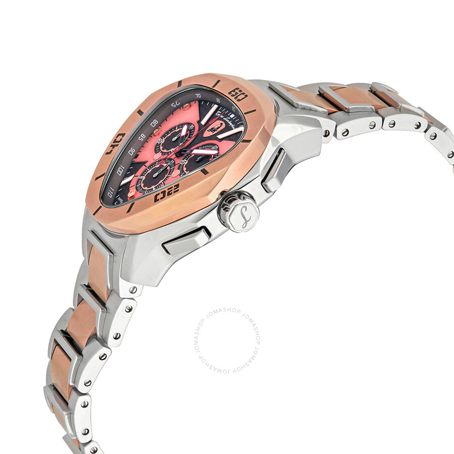 Lamborghini Spyder C Line Brown Dial Men S Two Tone Watch C 16