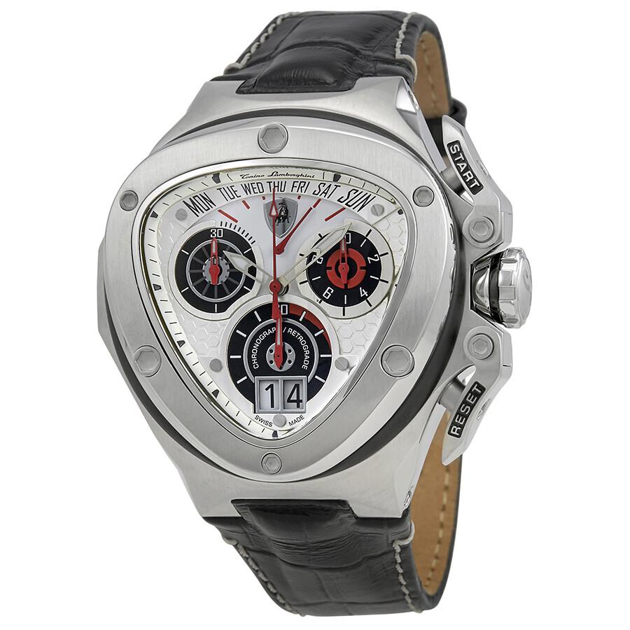 Lamborghini Spyder Silver Dial Men S Chronograph Watch 3009