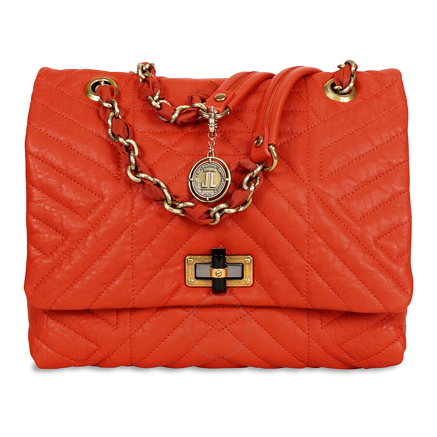 11bbbc5f61 Lanvin Happy Classic Medium Lambskin Shoulder Bag - Orange - Lanvin ...