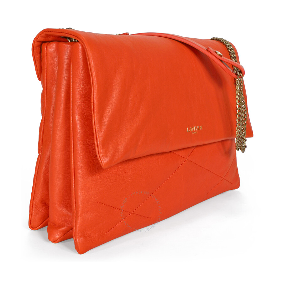 lanvin medium sugar quilted lambskin shoulder bag bright
