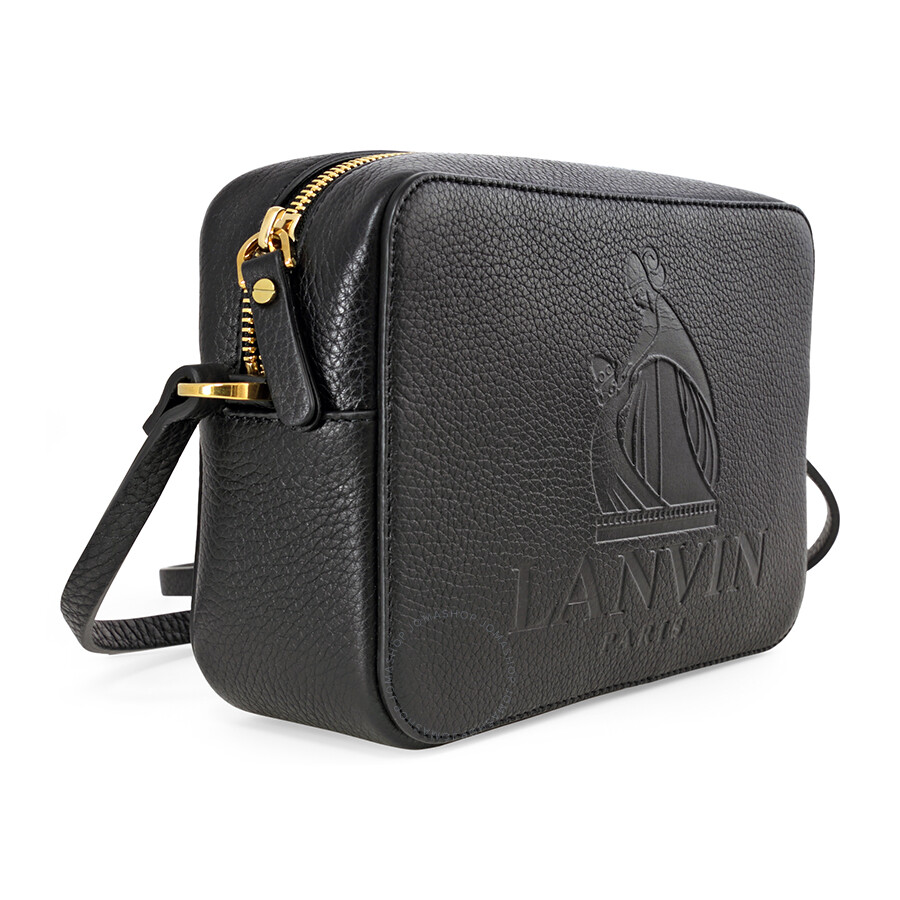 6217fae16e37 Lanvin Mini Logo Crossbody Leather Bag - Black - Lanvin - Handbags ...