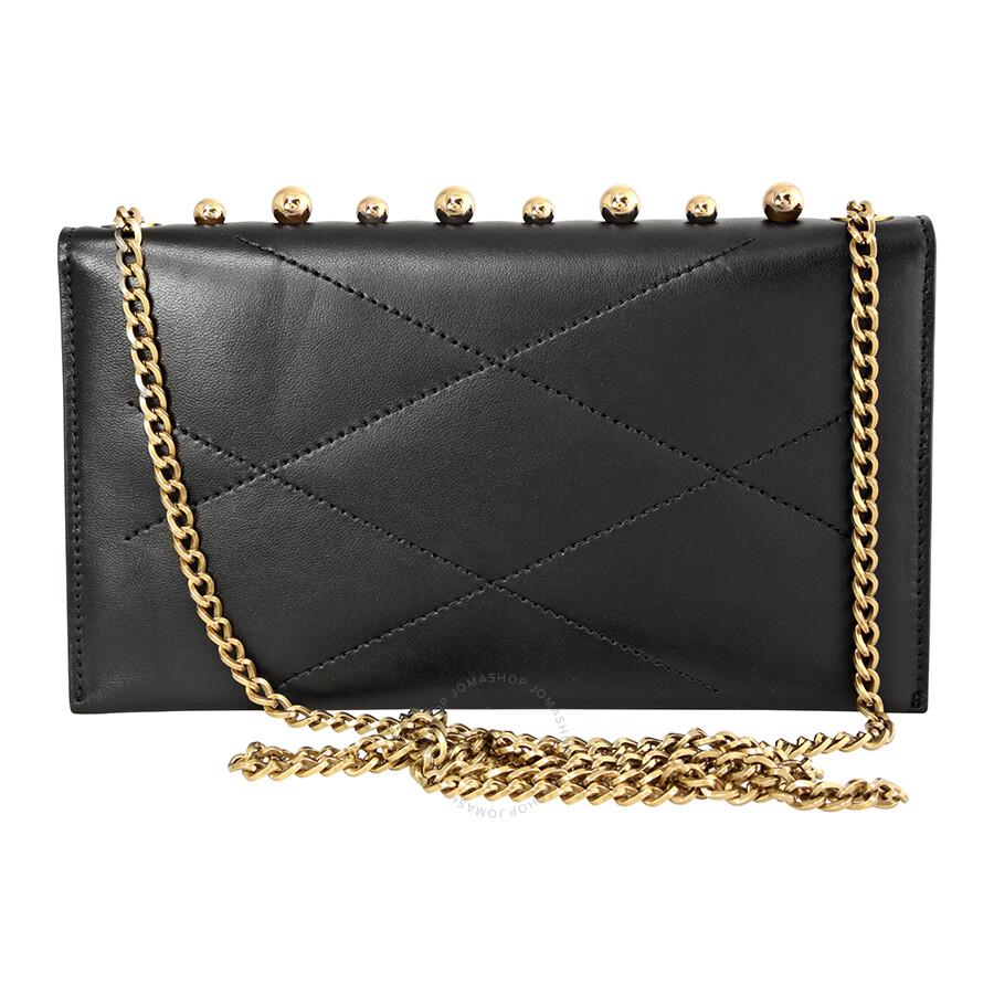 b52dc5851 Lanvin Sugar Pearl Chain Lambskin Wallet - Black Item No. LW-BGGCP4-EGYP-P16