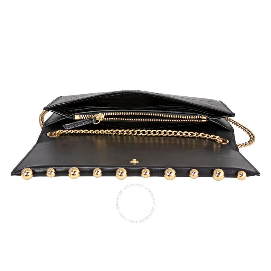 0606bf80e Lanvin Sugar Pearl Chain Lambskin Wallet - Black - Lanvin - Handbags ...
