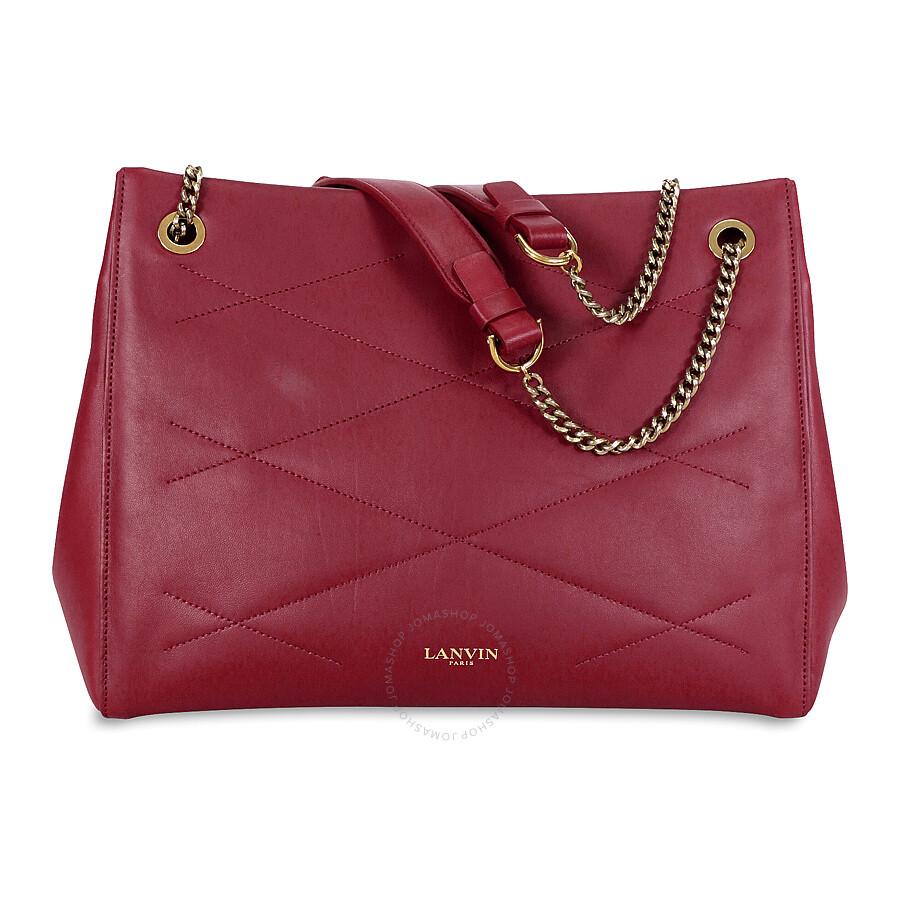 6400686b2d3 Lanvin Sugar Quilted Leather Shoulder Bag - Red - Lanvin - Handbags ...