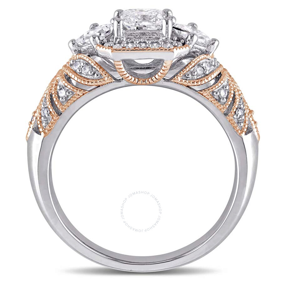 1 ct princess and tw engagement