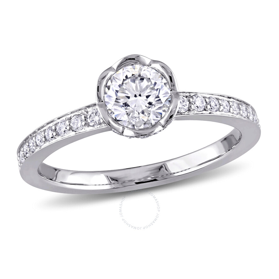 e3332c71f2ef6 Laura Ashley 14K White Gold 1 CT TW Diamond Bridal Ring- Size 9  JMS003995-0900