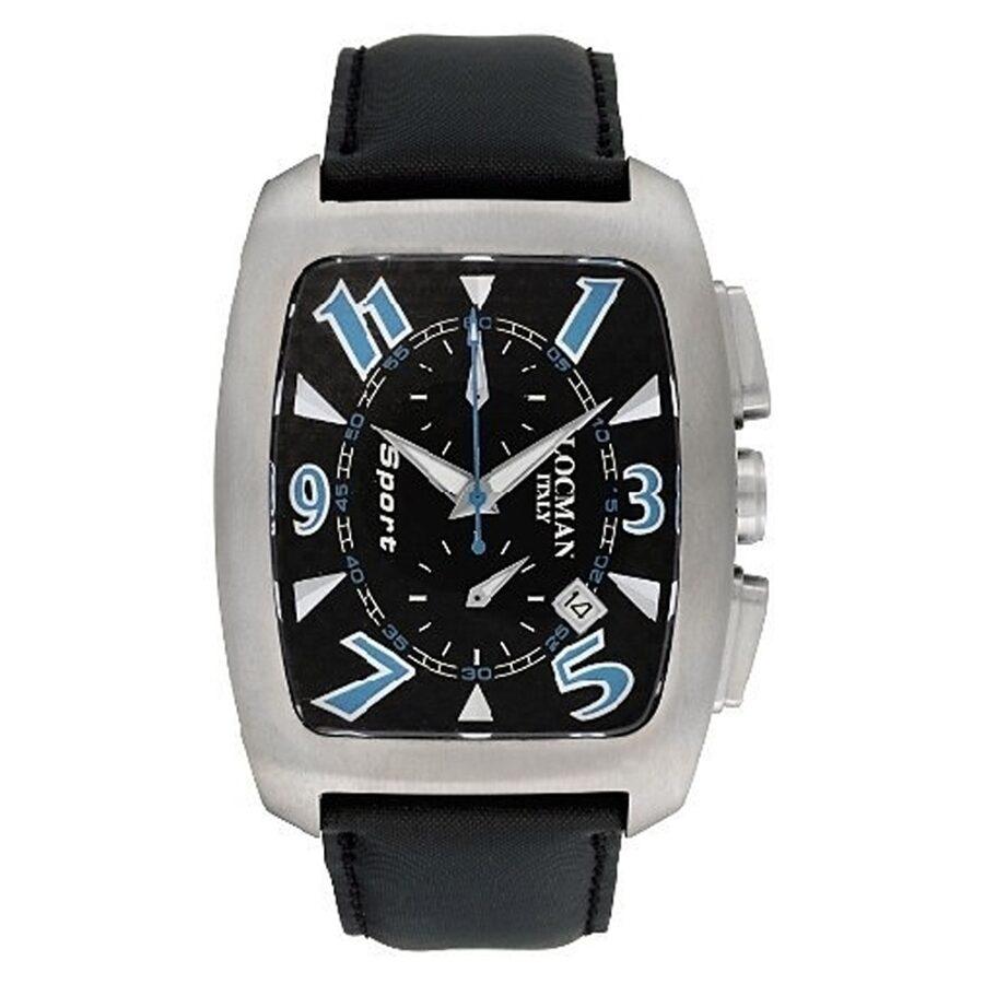 locman watches jomashop locman titanio tonneau chronograph black leather strap men s watch lo 484crbsk bk