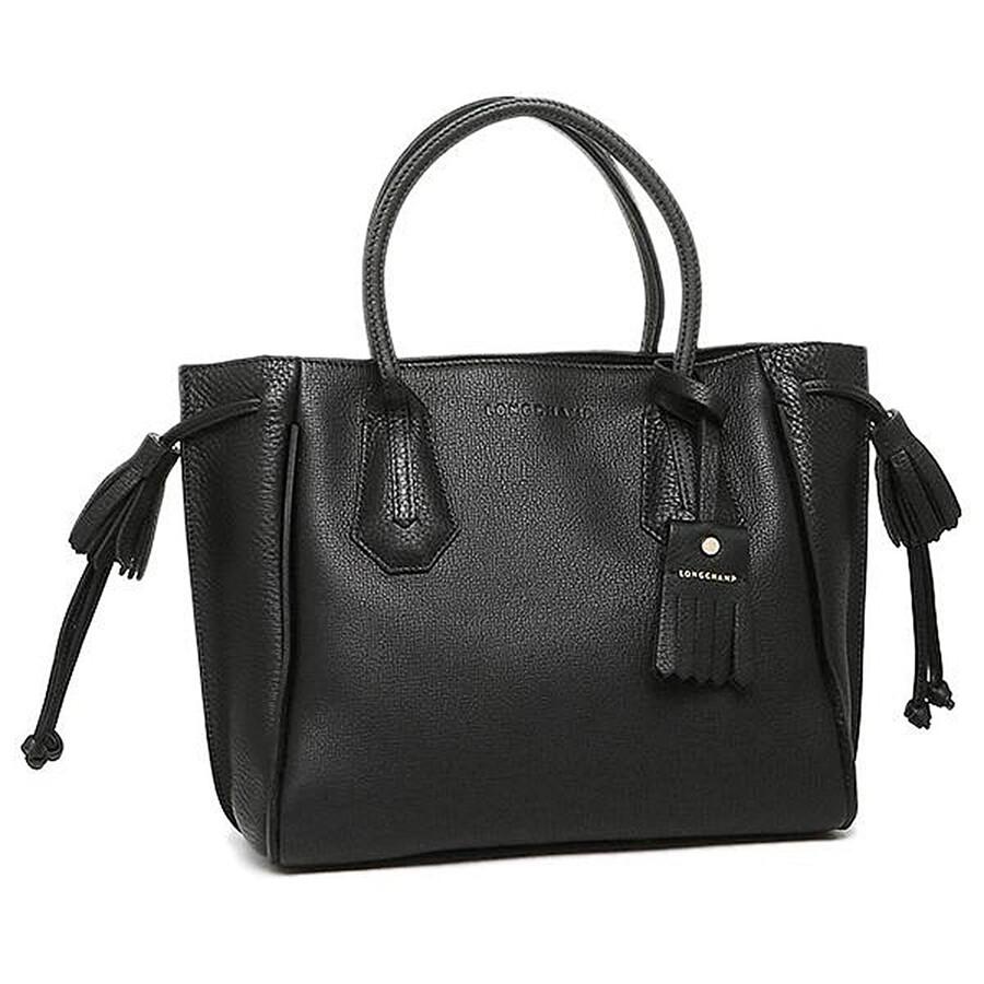 Ladies Penelope Black Small Tote Bag by Longchamp