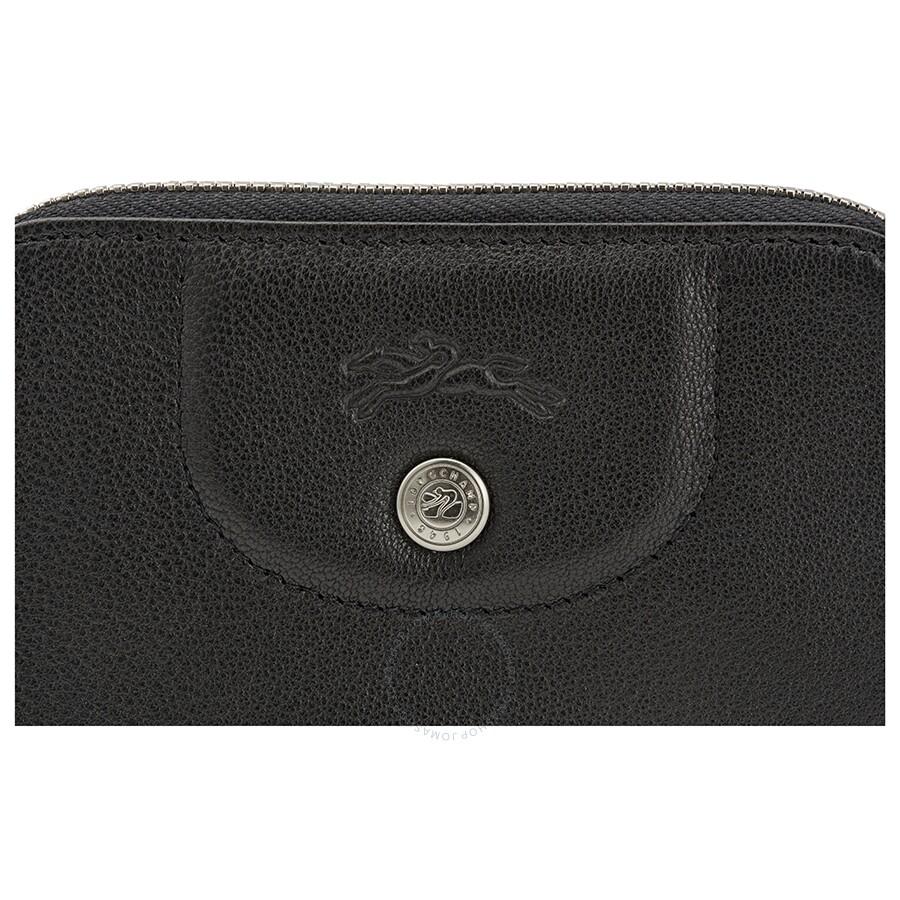 604a2f59a9 Longchamp Le Pliage Cuir Coin Purse- Black - Longchamp - Handbags ...