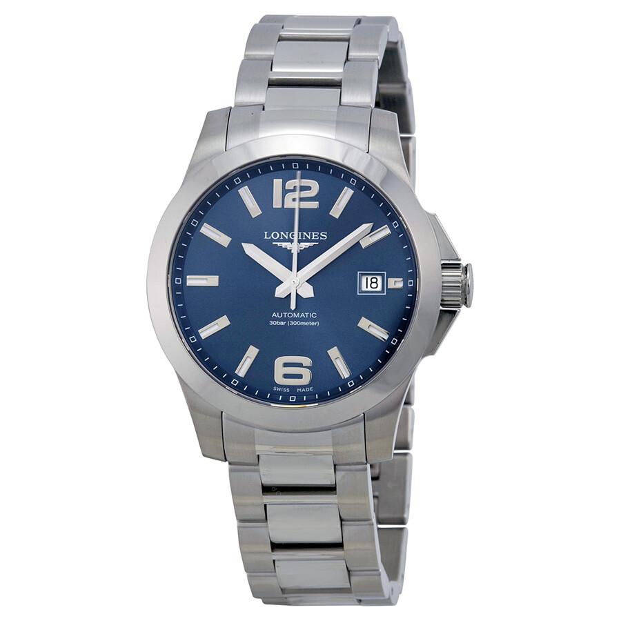 longines conquest blue dial automatic stainless steel men s watch longines conquest blue dial automatic stainless steel men s watch l36764996