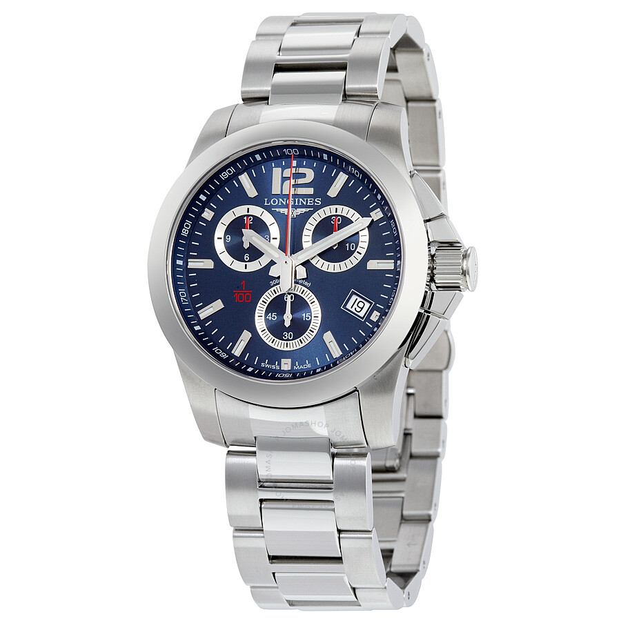 longines conquest chrono blue dial stainless steel men s watch l3 longines conquest chrono blue dial stainless steel men s watch l3 700 4 96 6