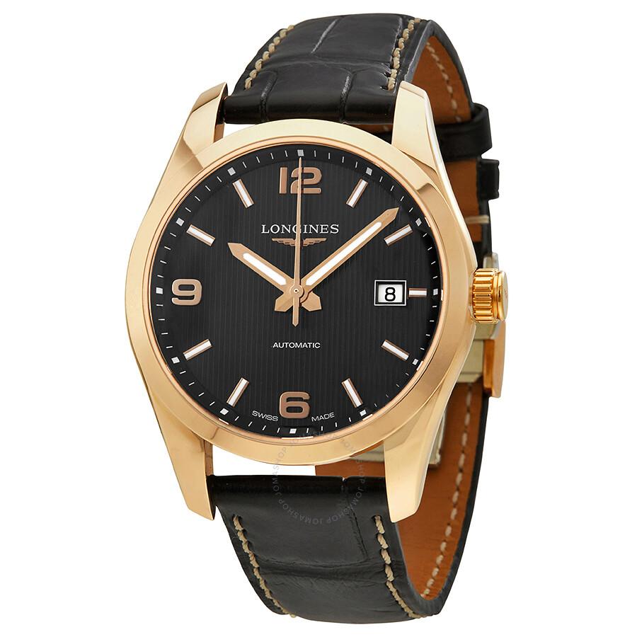 longines conquest classic black dial automatic men 39 s watch. Black Bedroom Furniture Sets. Home Design Ideas