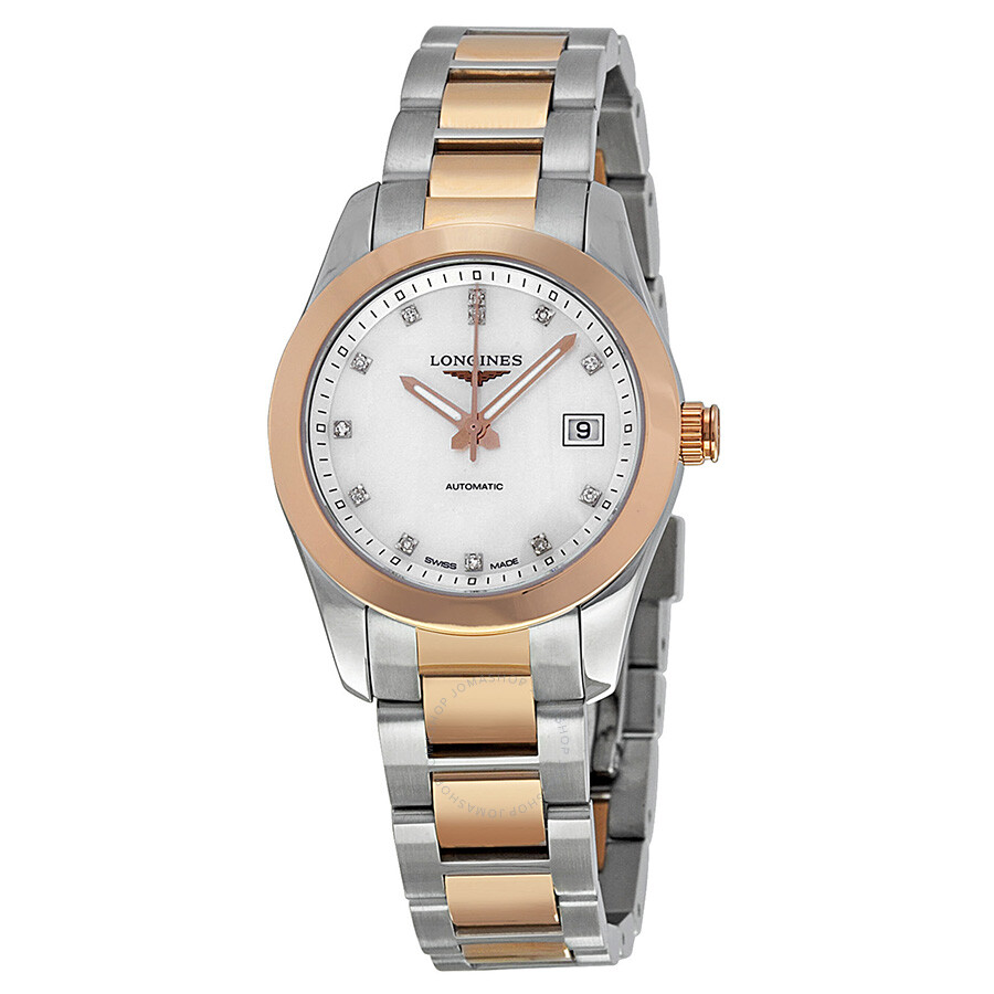 e48fb9255 Longines Conquest Classic Mother of Pearl Dial Ladies Watch L2.285.5.87.7  ...