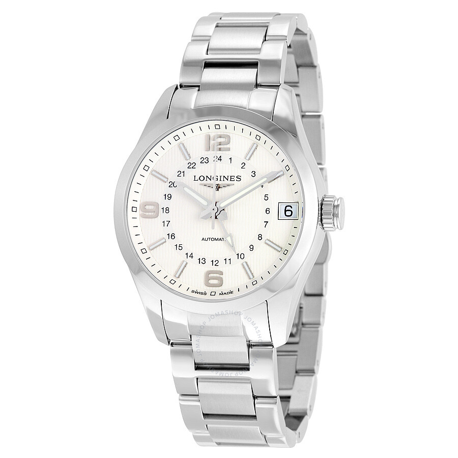 longines conquest classic silver dial gmt automatic men s watch longines conquest classic silver dial gmt automatic men s watch l27994766