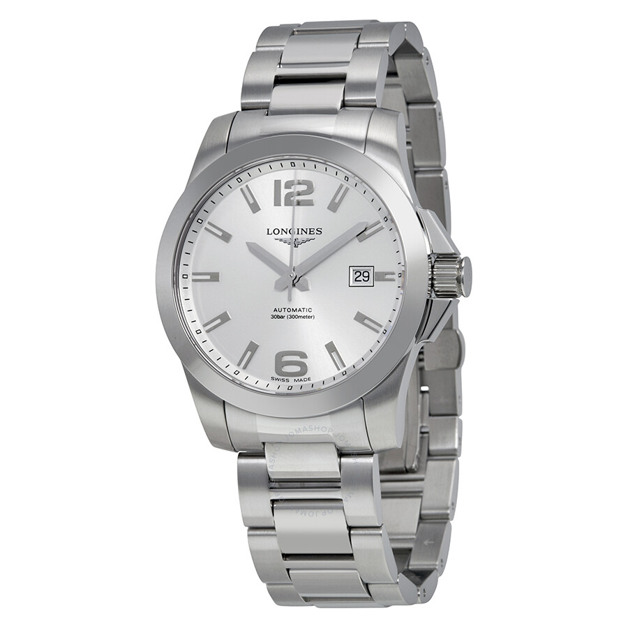 f3462ba97d9 Longines Conquest Automatic Silver Dial Stainless Steel Men s Watch  L36774766 ...
