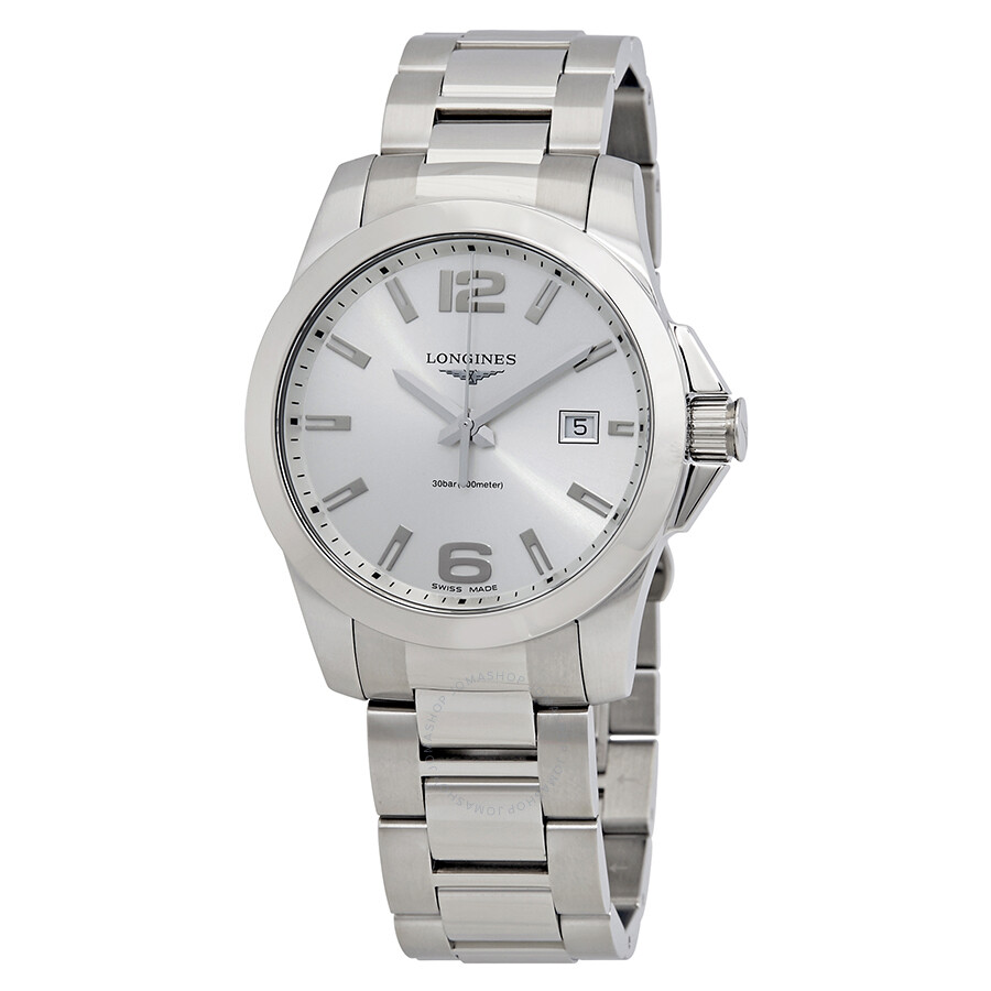 Longines Conquest Silver Dial Stainless Steel Men s Watch L37594766 ... ef109ee5b71