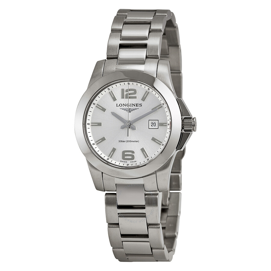 longines conquest stainless steel l32774766