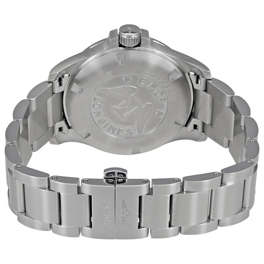 Longines Conquest V.H.P. Perpetual Black Dial Men s Watch L37164566 ... 4a2d6b73288