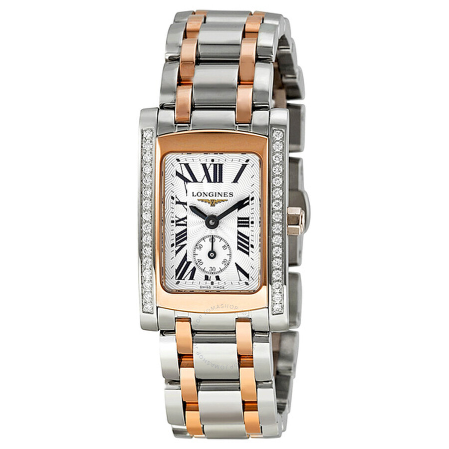 longines dolcevita stainless steel and gold