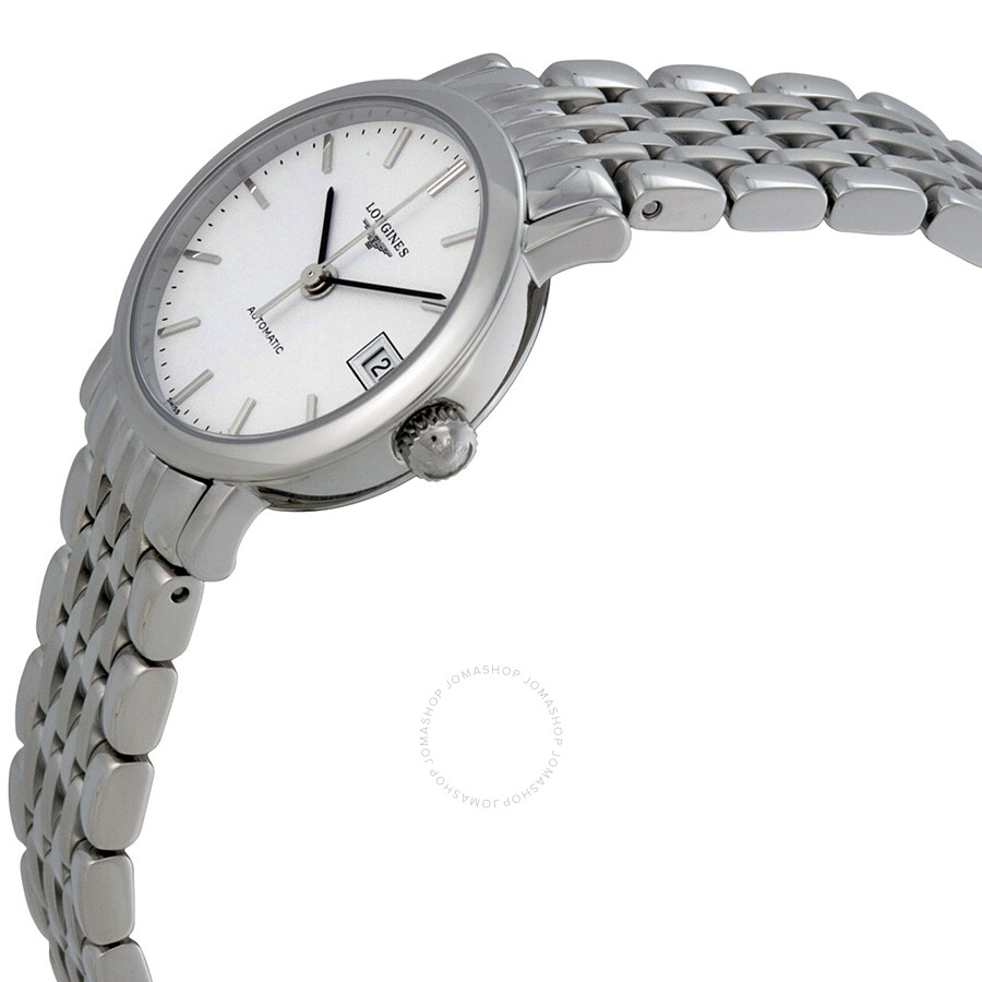 Elegant White Dial Stainless Steel Ladies Watch L43094126