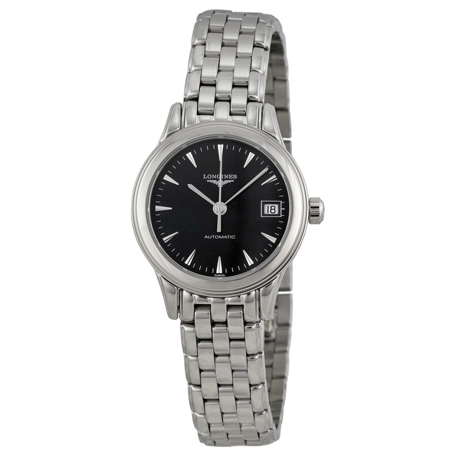 270630b3e9b Longines Flagship Automatic Black Dial Ladies Watch L42744526 Item No.  L4.274.4.52.6