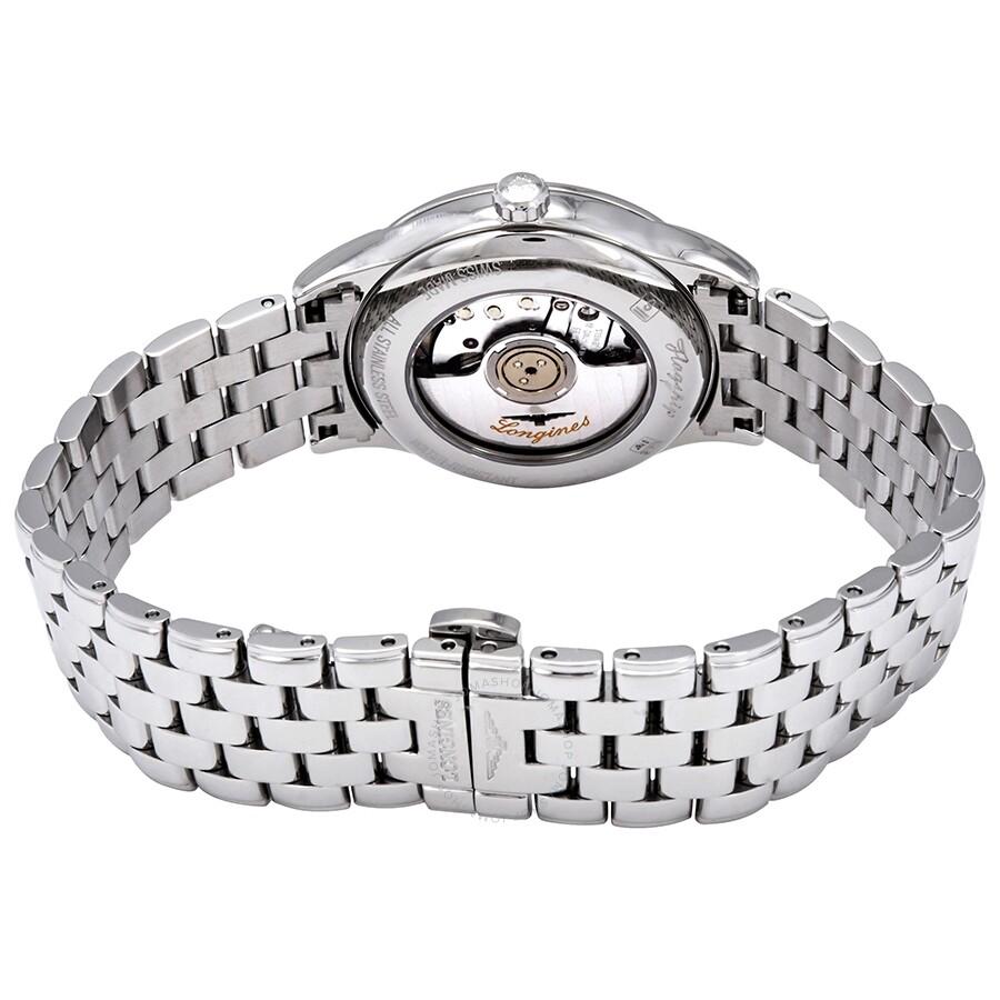 Flagship Automatic White Diamond Dial Ladies Watch L43744276