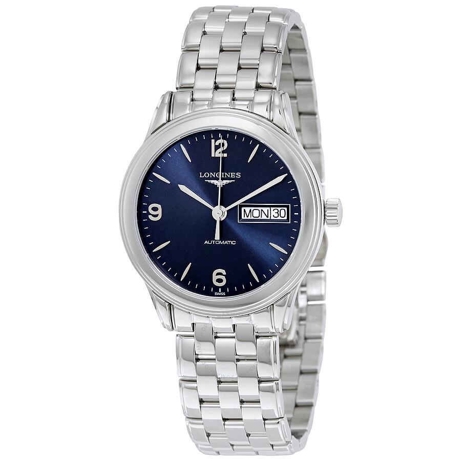 3cf8ea4cd47 Longines Flagship Automatic Blue Dial Men s Watch L4.799.4.96.6 ...