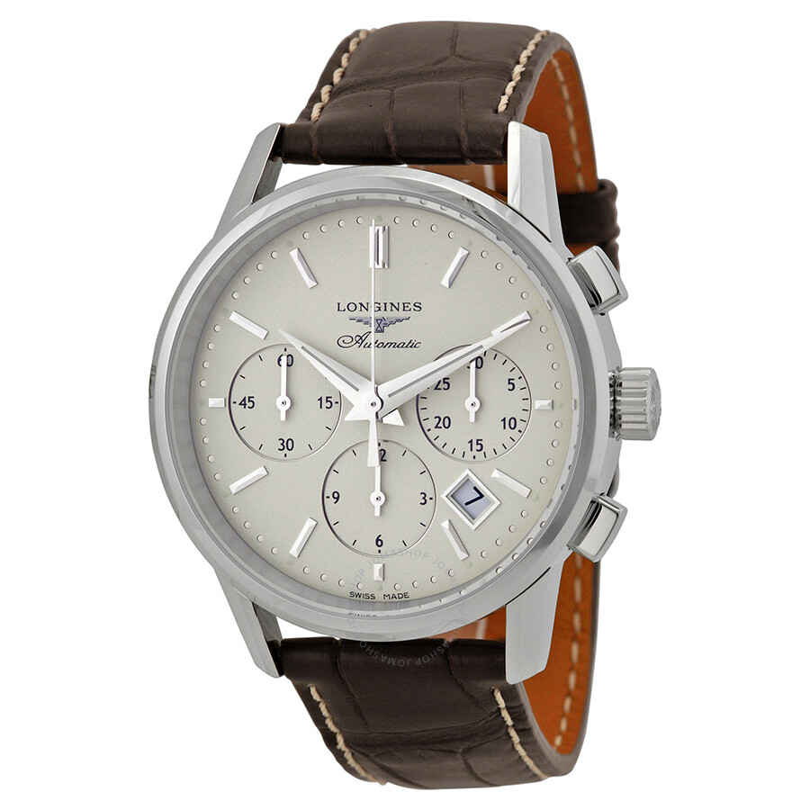 ef2b761cbf574 Longines Flagship Heritage Silver Dial Automatic Chronograph Men s Watch  L27494722 ...