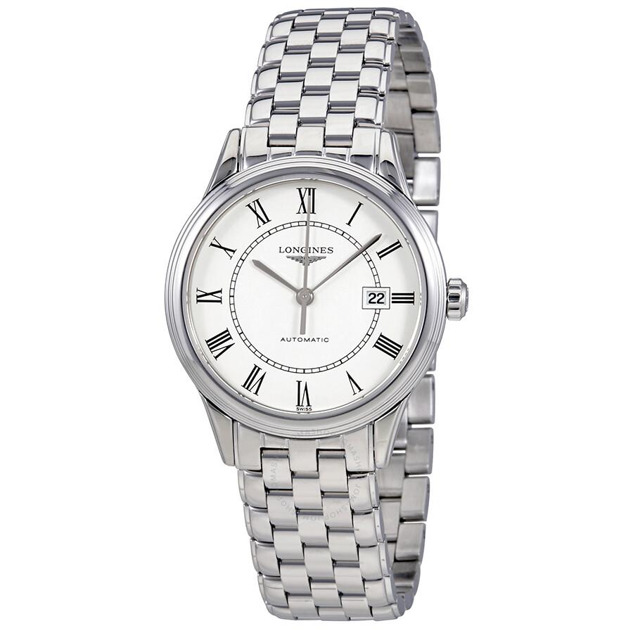 5b3eaf95db5 Longines Flagship Automatic White Dial Ladies Watch L4.374.4.21.6 ...
