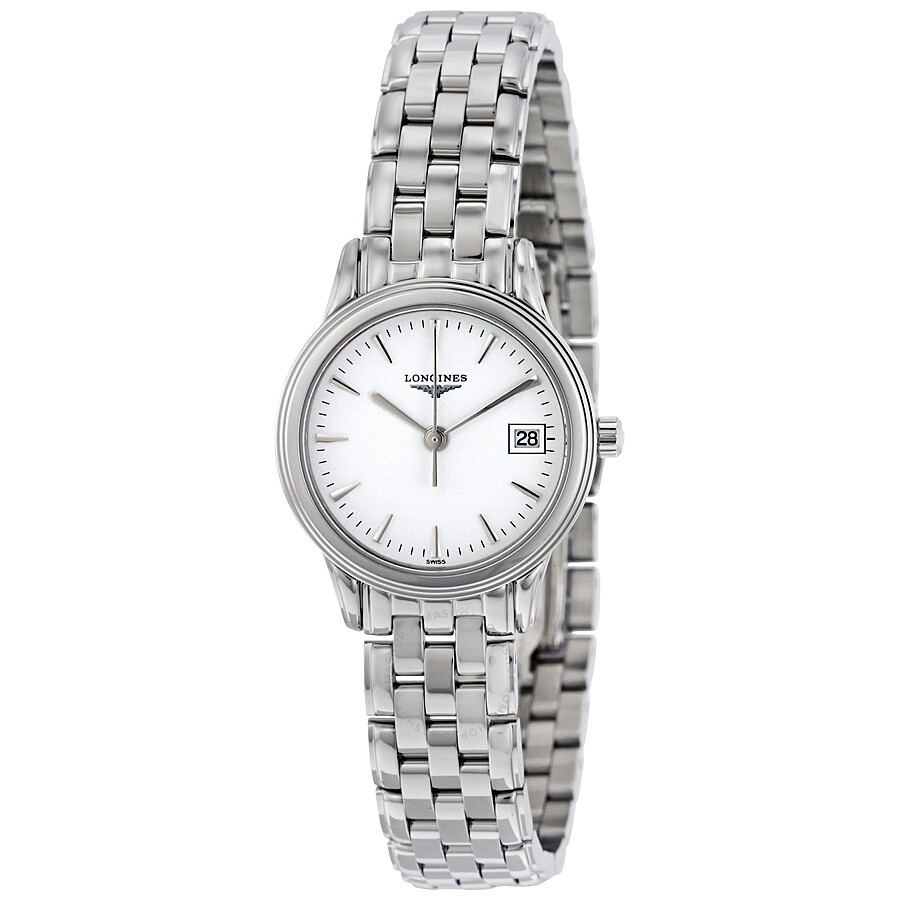 439612621f3 Longines Flagship White Dial Stainless Steel Ladies Watch L42164126 ...