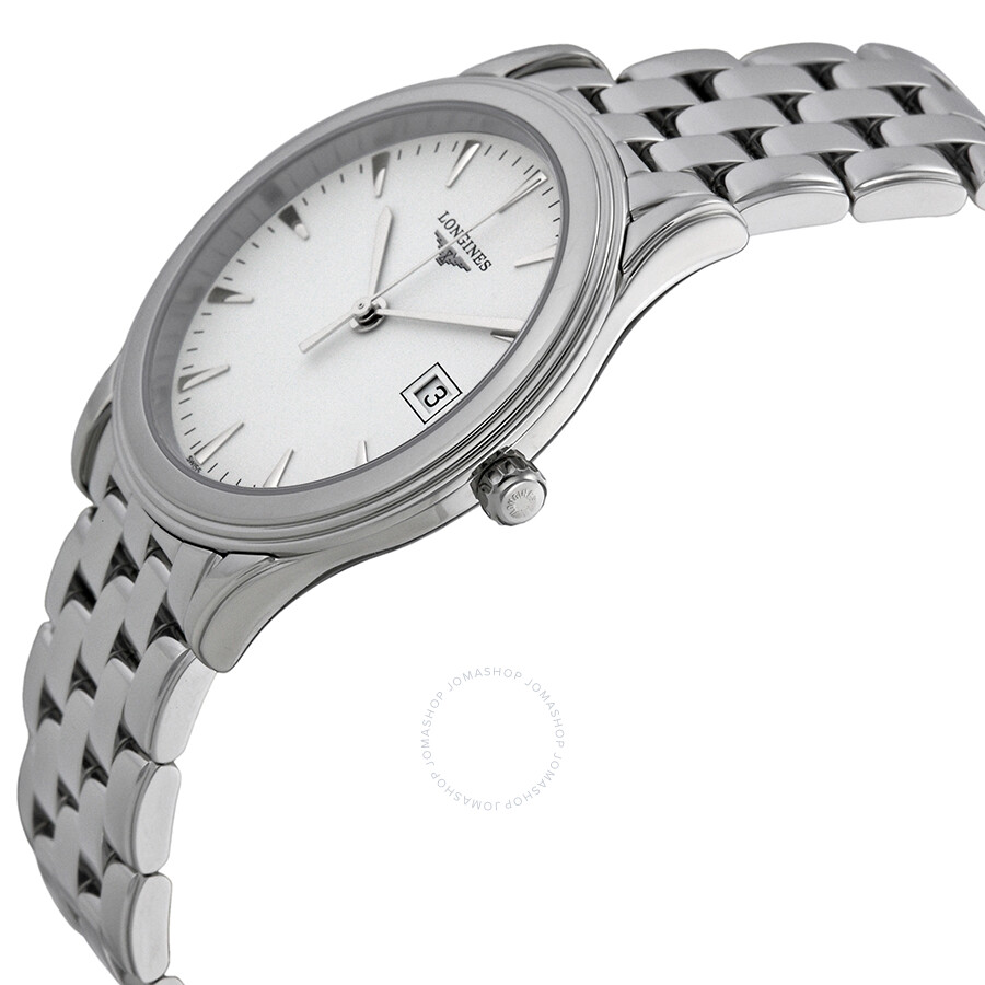 longines flagship white dial stainless steel men s watch l47164126 longines flagship white dial stainless steel men s watch l47164126