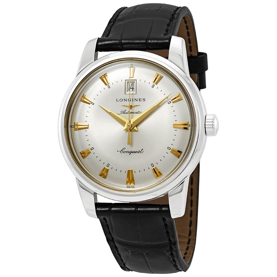 837e4adb8 Longines Heritage Automatic Silver Dial Men's Watch L1.645.4.75.4 ...