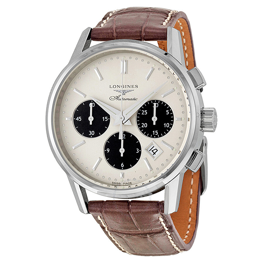 longines heritage collection automatic chronograph silver