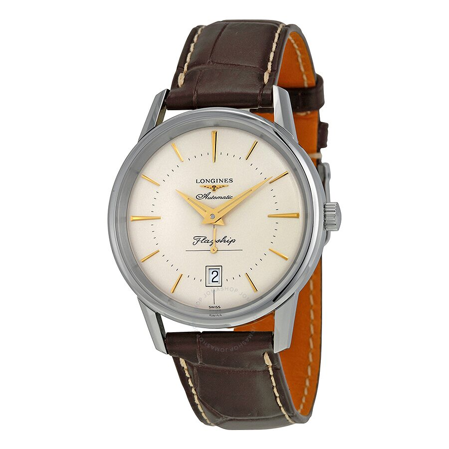 efcfee3281ee1 Longines Heritage Flagship Automatic Silver Dial Brown Leather Men s Watch  L47954782 Item No. L4.795.4.78.2