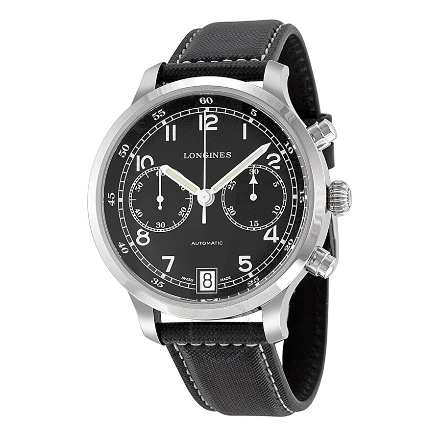 3fd869864 Longines Heritage Military 1938 Chronograph Black Dial Men's Watch  L27904530 Item No. L2.790.4.53.0