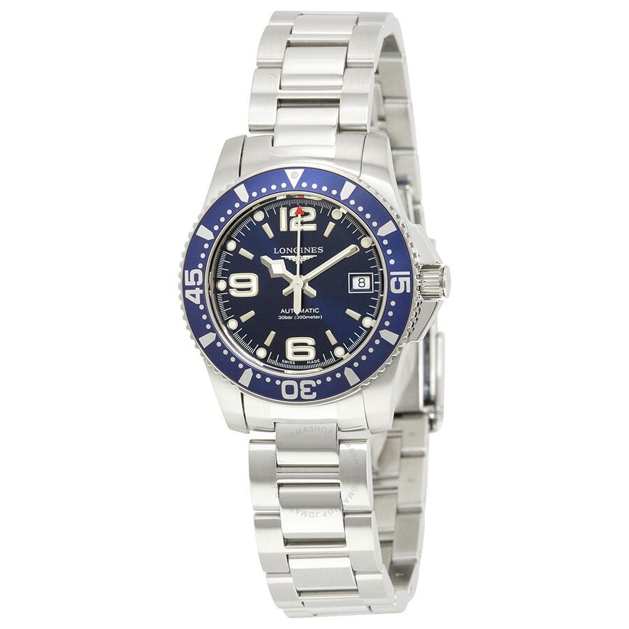d0e7e1618 Longines HydroConquest Automatic Blue Dial Ladies Watch L32844966 ...
