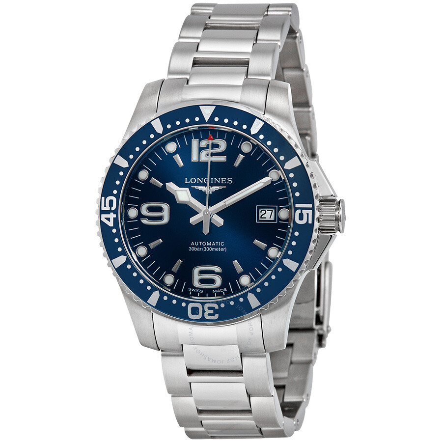 longines hydroconquest automatic blue dial stainless steel men s longines hydroconquest automatic blue dial stainless steel men s watch l36414966