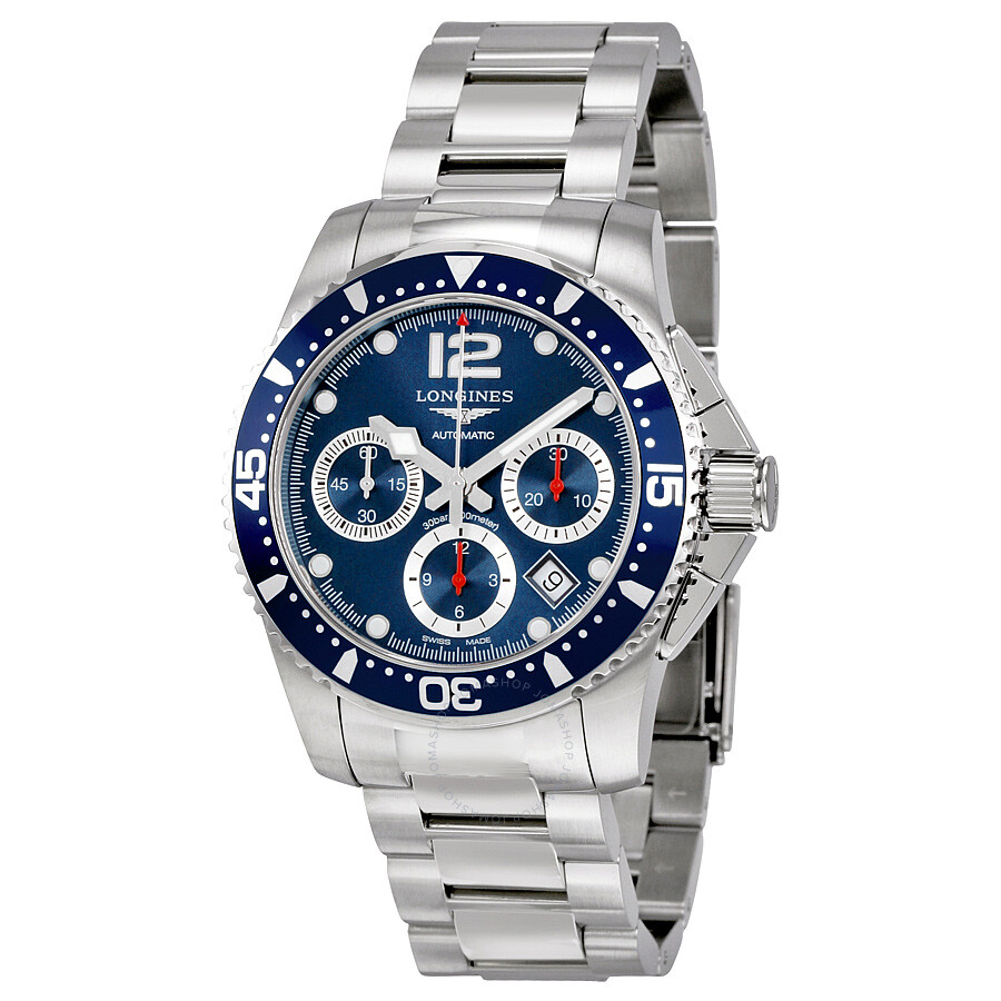 longines watches jomashop longines hydroconquest automatic chronograph blue dial stainless steel watch