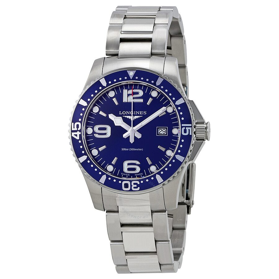 longines hydroconquest blue dial men 39 s watch hydroconquest longines watches