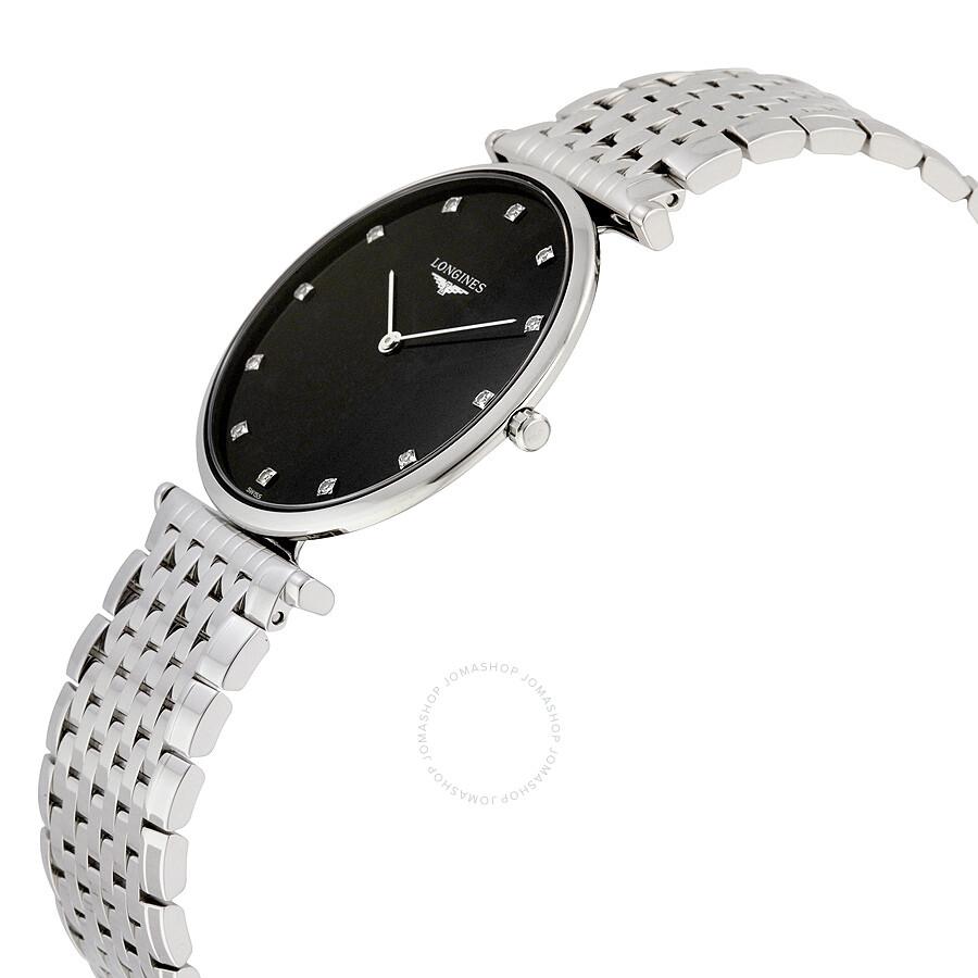 b0df962ac7e ... Longines La Grande Classique Black Diamond Dial Men's Watch L47554586  ...
