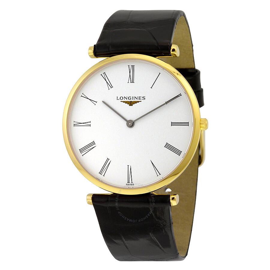 black single men in la grande La grande classique de longines flagship  men's watches  sapphire with a single layer of anti-reflective coating (10.