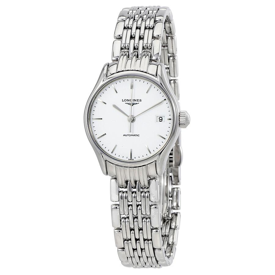 6fb82f8f44 Longines Lyre Automatic White Dial Ladies Watch L43604126 - La ...